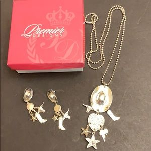 Premier western theme necklace & earrings